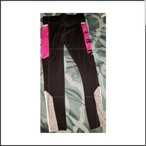 Black, Pink and white Pink Victoria Secret Legging